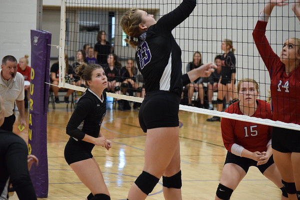 Durand Varisty volleyball quad Aug. 30, 2018