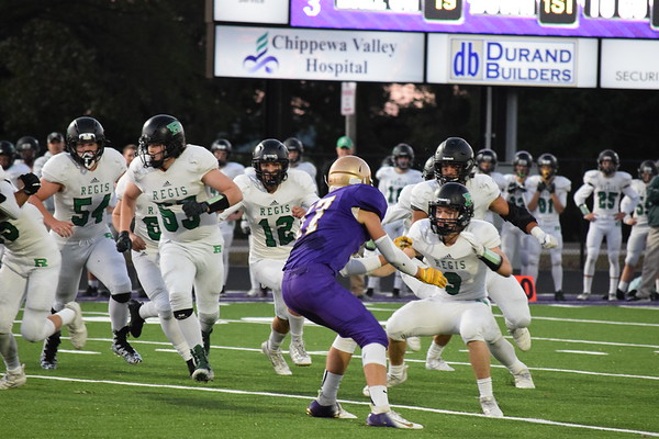 Durand Varsity football vs. Eau Claire Regis, Friday, Sept. 21st, 2018