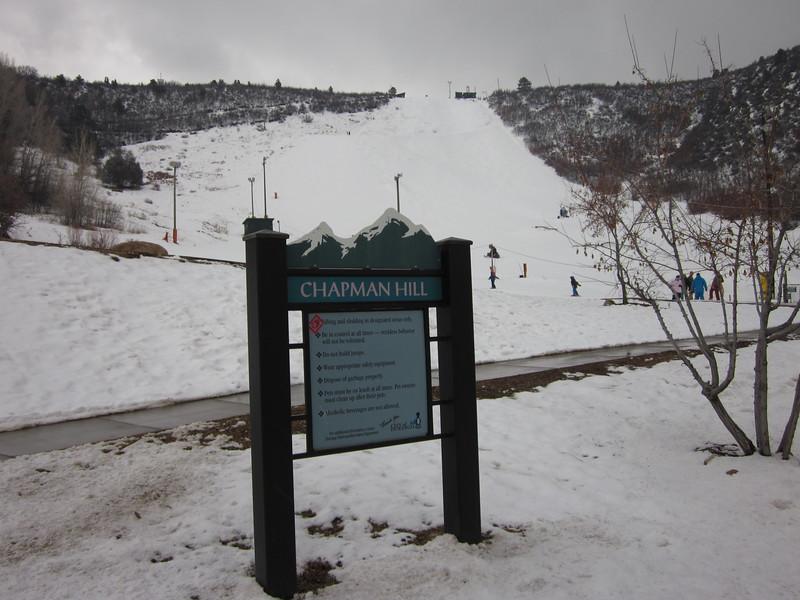 In-town skiing in February, Chapman Hill, Durango, Colorado