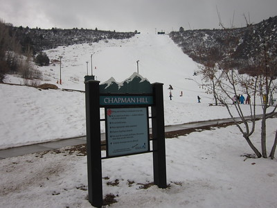 In-town skiing in February, Chapman Hill, Durango, Colorado