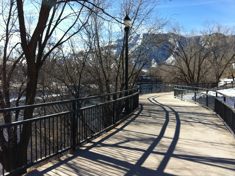 River Trail along Animas River in downtown Durango, Colorado