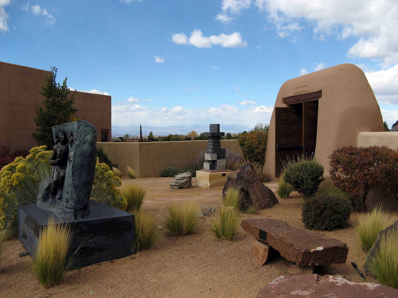 563 Santa Fe, outside of Indian Arts Museum