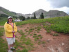 68 Sue at a very high trailhead to the Colorado Trail