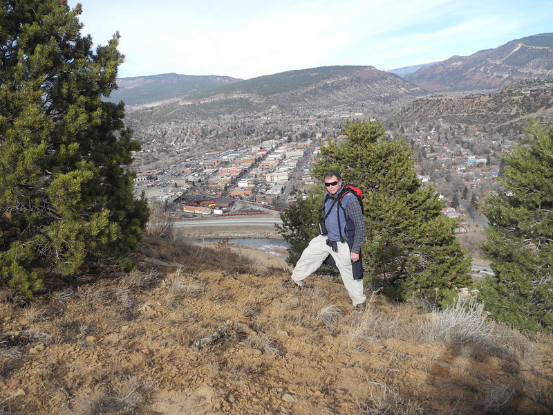 01 Bruce with train station and downtown Durango below