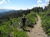 36 Bruce along the top of the Animas Mountain ridge