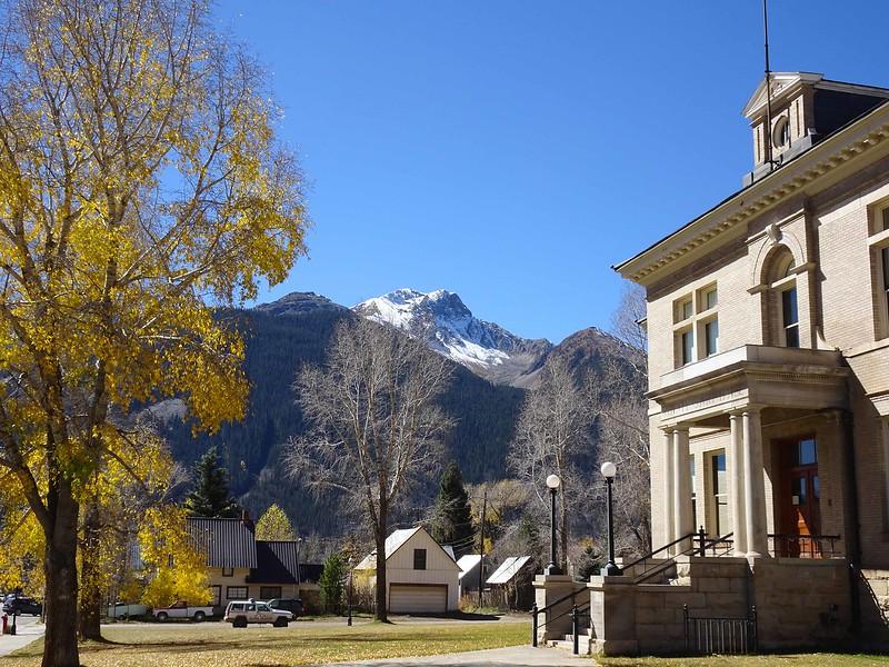 135 Sultan Mountain behind Silverton County Building