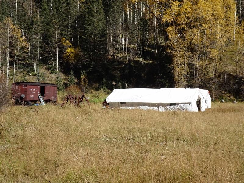 130 Major hunting camp at Elk Park crossing