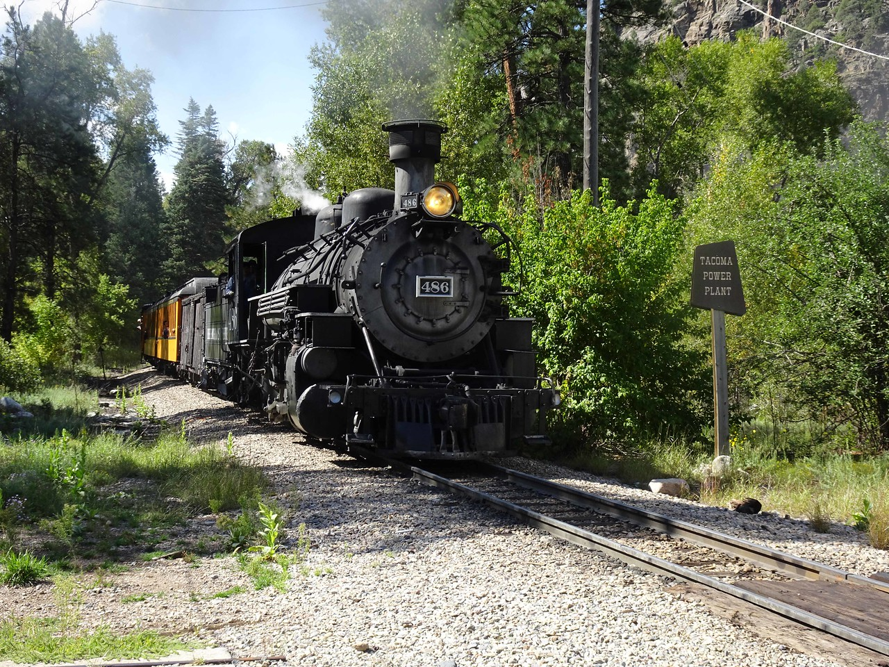 67 Train passing by at Tacoma