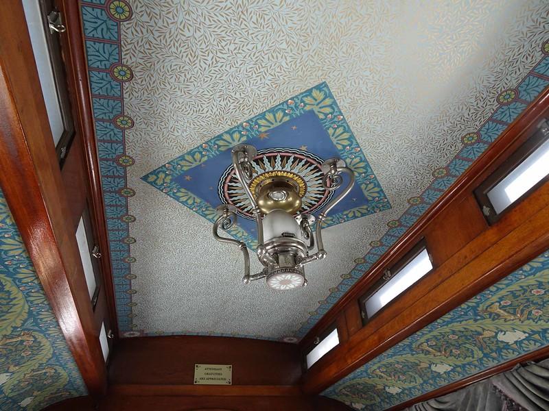 70 Interior of our Cinco Animas car, built in 1883