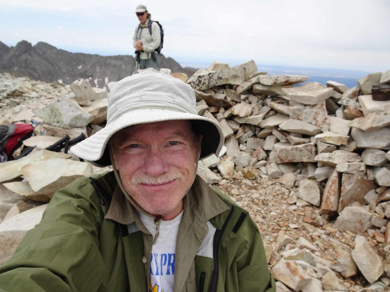 74 Bruce on the summit, Wayne behind