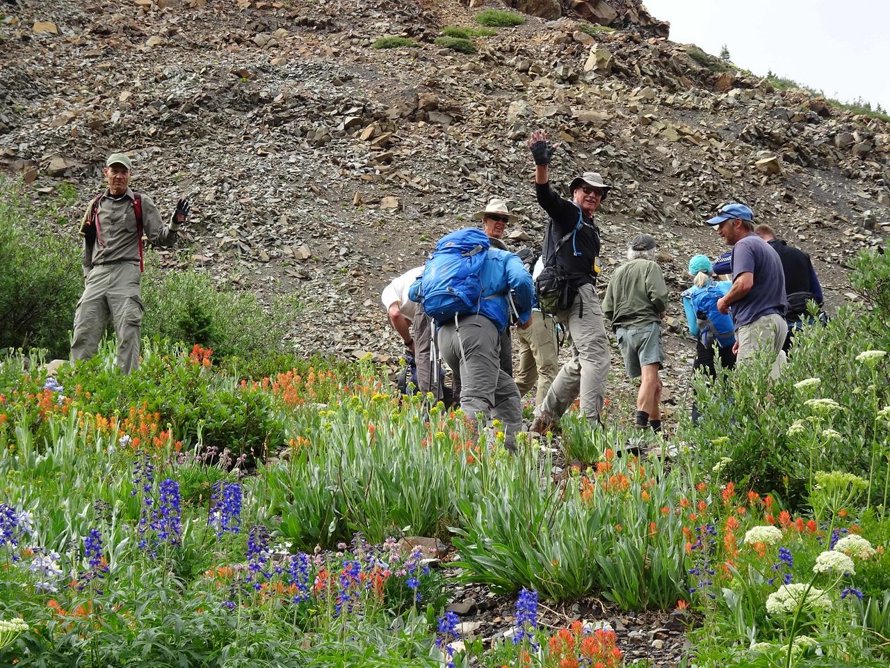 64 Seniors emersed in flowers everywhere