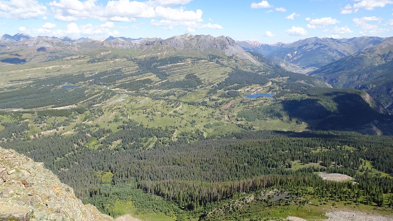 05 Northwest vista includes Little Molas Lake,  Andrews Lake and Silverton