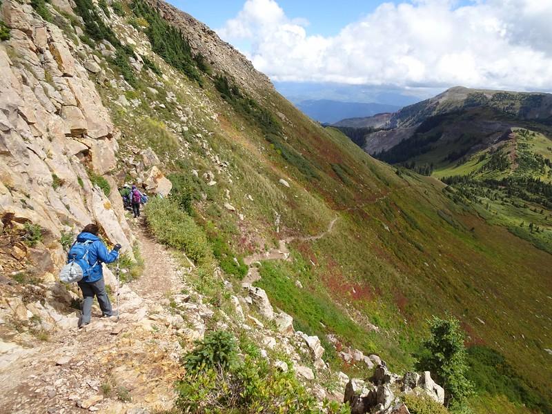 4 Hiking back down towards Taylor Lake