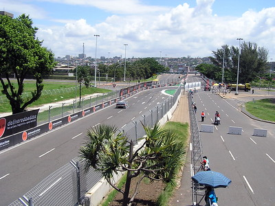This was a street course run over the public roads of downtown Durban, South Africa.