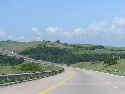 This is the rainy season.  Several parts of the country featured rolling green hills.