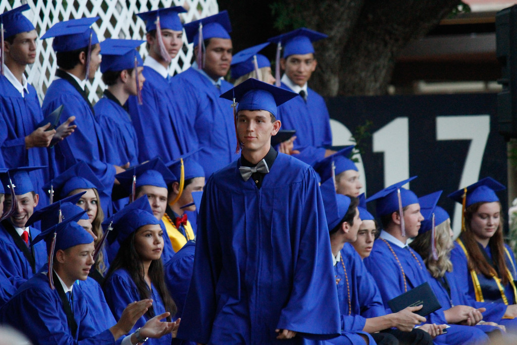 . The Durham High School class of 2017 receive their diplomas during the graduation ceremony Thursday June 1, 2017 at Durham High School in Durham, California. (Emily Bertolino -- Enterprise-Record)