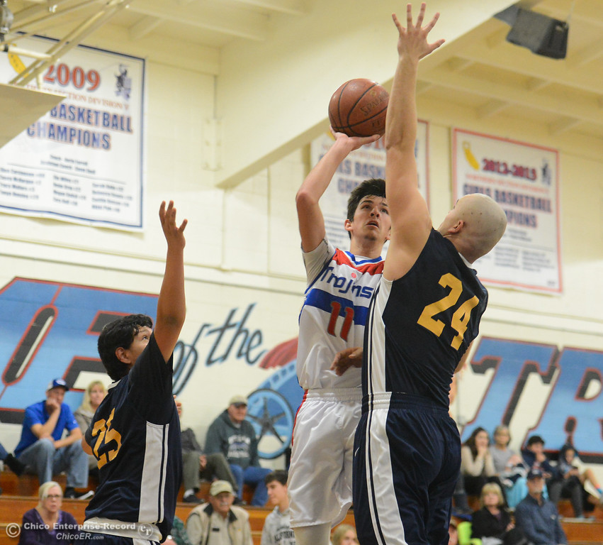 . Durham hosts Gridley in the first game of the annual Herb Jergentz tournament Thursday November 30, 2017 in Durham, California. (Emily Bertolino -- Enterprise-Record)