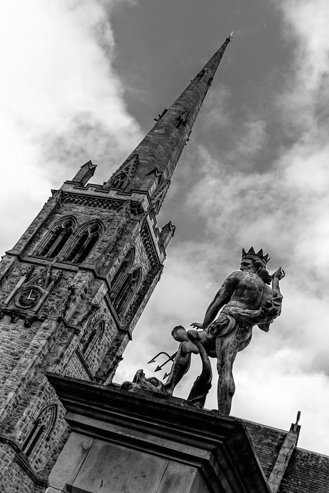 Durham Church and Statue of Neptune