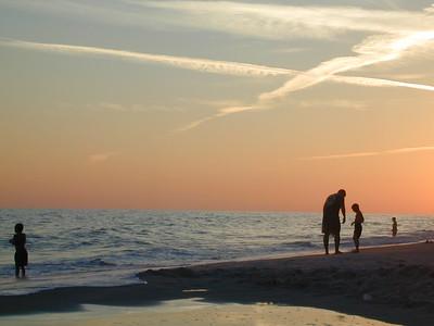 Sunset at Gulf Shores, Alabama