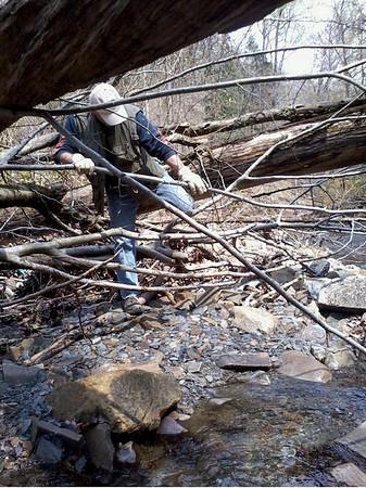 Mid-April Hike Up A Ravine