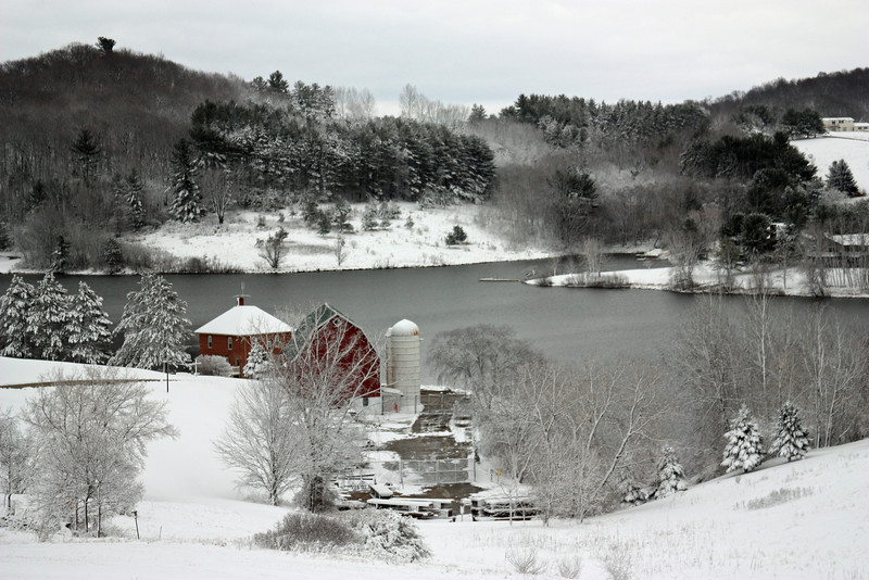 Red Barn at Dutch Hollow Lake