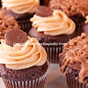 Chocolate and Chocolate Peanut Butter Cupcakes