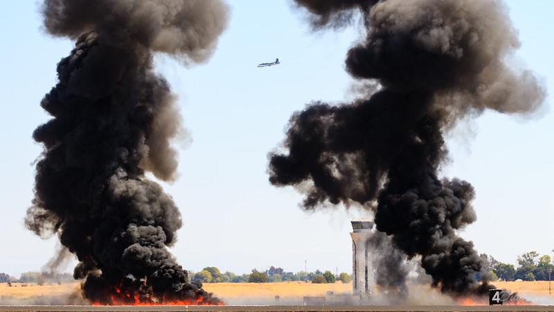 CF-18 Hornet Bombing an Airfield