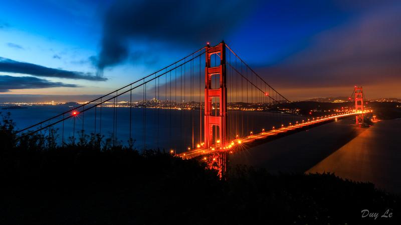 Golden Gate Bridge and San Francisco @ Sunrise