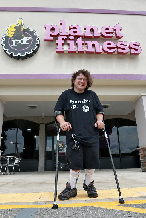 . Despite having cerebral palsy, Dwayne Boyd decided he wanted to start going to the gym for the first time at the age of 46. He started going to Planet Fitness in Leominster. SENTINEL & ENTERPRISE/JOHN LOVE