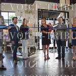 The ribbon cutting. Mike Chesser, Marvin Dyer, Robin Burditt, Donna Outlaw, Shane Pearson and Linda Fuller.
