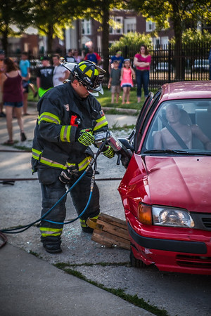 Dwight Fire ~ Extrication Demo at the Buzz the Gut Car Show