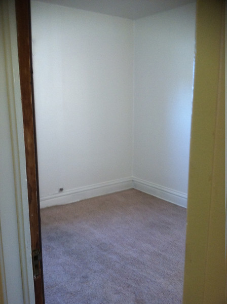 smallest room--adjacent to bathroom, at very top of stairs...mostly an office!  has a small patio out back but not functional/stable
