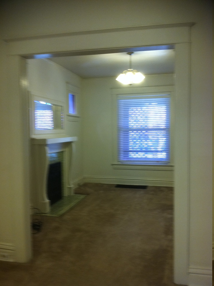 view of front room from dining room