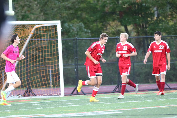 Dylan varsity soccer Ridgefield 10.7.16