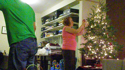 2009.11.29 - Putting up the Christmas Tree for the first time with Dylan.