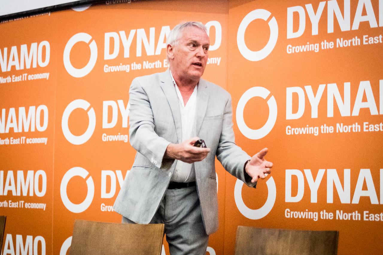 James Woudhuysen speaking at Dynamo17