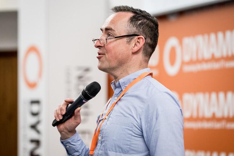 Charlie Hoult speaking at Dynamo17