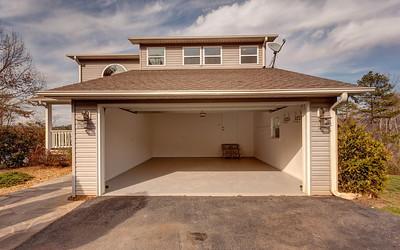 Large 2 car garage