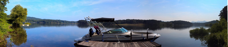 Dock panorama (boat not included with property)