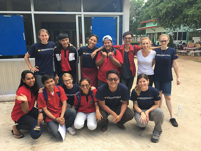 Along with professors and students from Kasetsart University (not pictured),  students from UM and Mae Fah Luang University performed a 3-week data collection trip and comprehensive assessment of a community of domestic electronic waste recycling workers in Eastern Thailand .