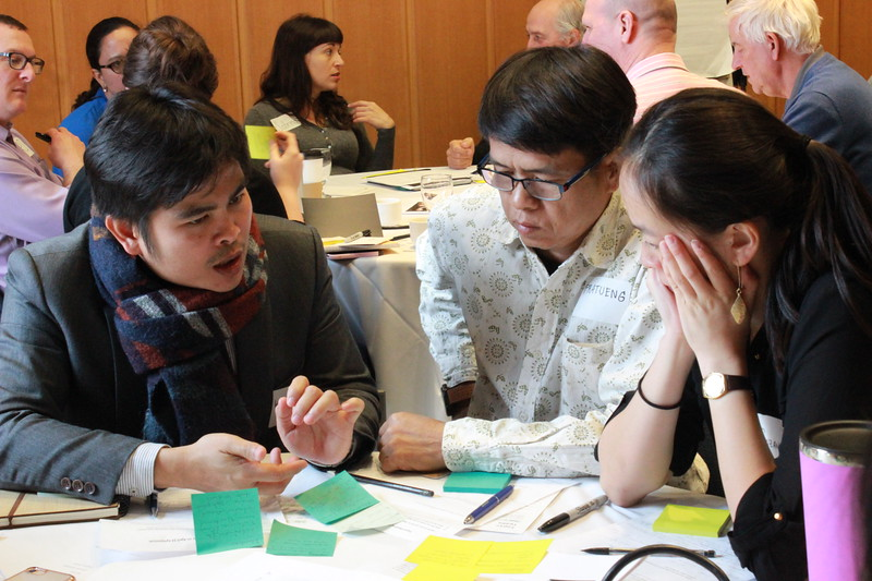 Workshop participants had many varied opportunities to review and contribute to the shared ideas being developed.