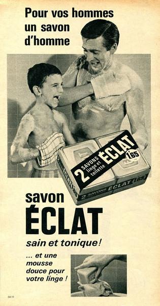 ÉCLAT soap 1956 France 'Pour vos hommes un savon d'homme - Sain et tonique!'