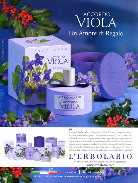 L'ERBOLARIO Accordo Viola 2012 Italy 'Un amore di regalo'