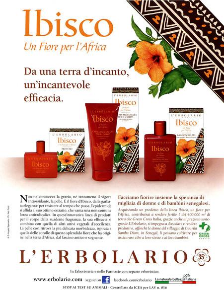 L'ERBOLARIO Ibisco 2013 Italy 'Un fiore per l'Africa - Da una terra d'incanto, un'incantevole efficacia'
