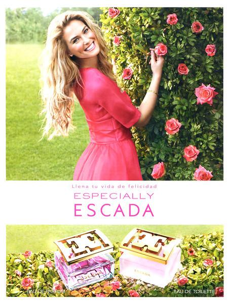 ESCADA Especially Eau de Parfum + Eau de Toilette 2012 Spain 'Llena tu vida de felicidad'
