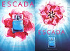 ESCADA Ino the Blue 2006 US (recto-verso with scent strip) 'A new fragrance for women - Bloomingdale's - Neiman Marcus - Nordstrom - Escada boutiques'