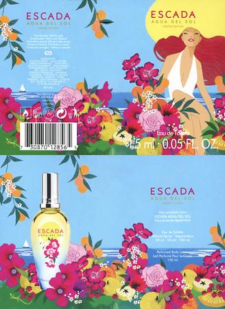 ESCADA Agua del Sol Limited Edition 2016 Spain (4-face folding card for vial sample)