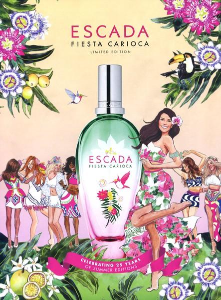 ESCADA Fiesta Carioca Limited Edition 2017 Spain 'Celebrating 25 years of summer editions'<br /> <br /> ILLUSTRATOR: Inslee Faris