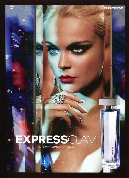 EXPRESS Glam 2012 US 'The new fragrance for women'<br /> MODEL:  Viktoriya Sasonkina, PHOTO: Greg Kadel