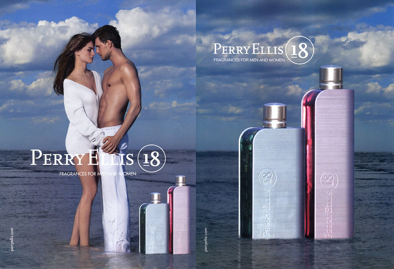 PERRY ELLIS 18 Men & Women 2006 US (recto-verso with scent strip) 'Fragrances for men and women'